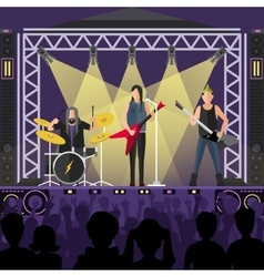 Pop group concert vector