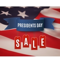 Presidents day sale background template vector