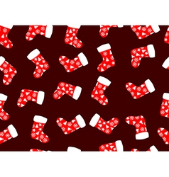 Seamless pattern with christmas socks vector