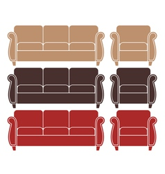 Sofa Armchair vector image