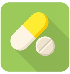 Vitamin pills icon vector image vector image