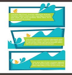 water banners vector image vector image