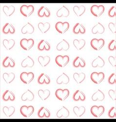 Watercolor hearts pattern vector image vector image