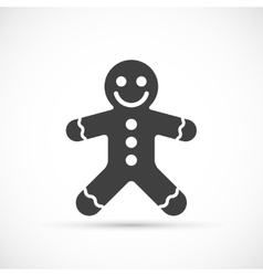 Gingerbread icon vector