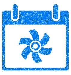 Fan calendar day grainy texture icon vector