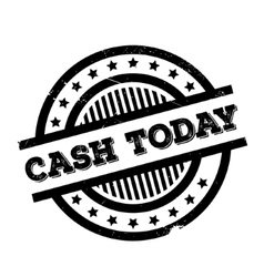 Cash today rubber stamp vector