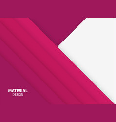 Pink color material design background vector
