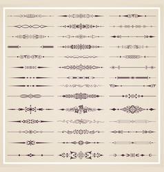 Decorative calligraphic dividers vector