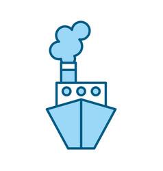 blue ship cartoon vector image