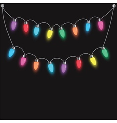 party light bulbs vector image