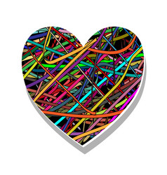 symbol of love-heart vector image