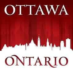 Ottawa Ontario Canada city skyline silhouette vector image