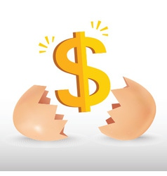 Dollar egg vector