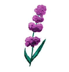 Oil painted lavender vector