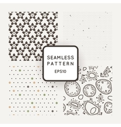 Set of four seamless patterns with flowers vector