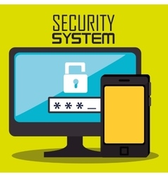 Security and surveillance system vector