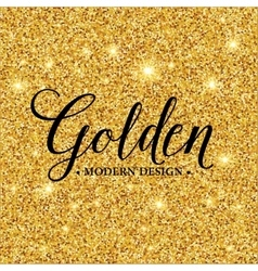 Gold glitter texture for background vector