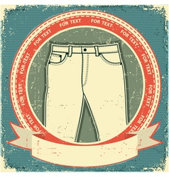 Retro jeans label vector