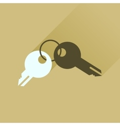 Flat icon with long shadow bunch of keys vector image