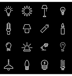 Line light icon set vector