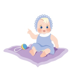 A child with the rattle vector image
