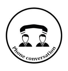 Icon of telephone conversation vector