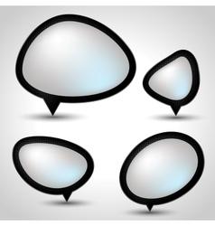 Modern Speech Bubble Set vector image
