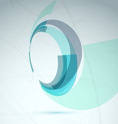 Abstract spin wheel element background vector image