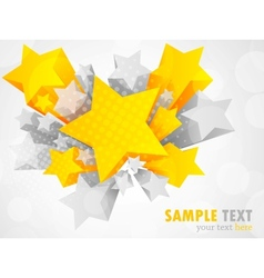 Background with 3d star vector image