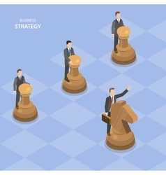 Business stratagy isometric flat concept vector image vector image