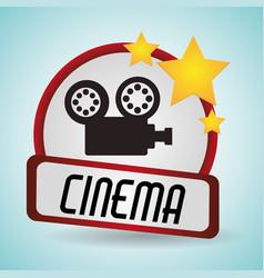 Cinema film camera movie projector vector