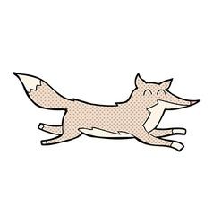 Comic cartoon running wolf vector