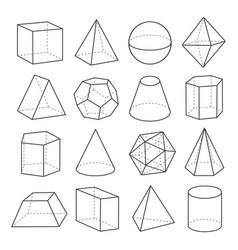 geometric shapes outline set vector image vector image