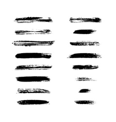 Grunge brushes stroke texture set vector image vector image