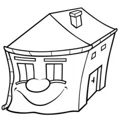 house cartoon vector image vector image