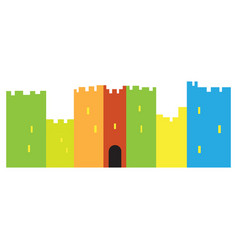 isolated castle toy vector image