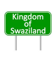 Kingdom of swaziland road sign vector