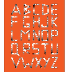 original metal font vector image vector image