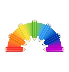 Pencil Rainbow Background Card Or Cover Template vector image vector image