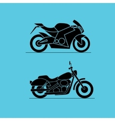 sport motorbike icon design vector image