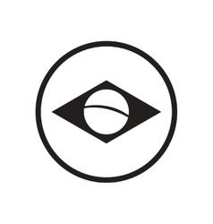 Stylish black and white icon brazil logo vector