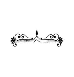 Swirl line decoration vector
