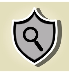 symbol search look data vector image