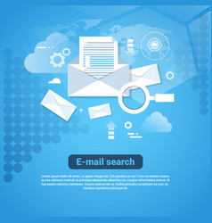 template web banner with copy space email search vector image vector image