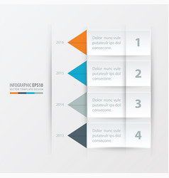 Timeline report template orange blue gray vector