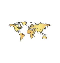 World map computer symbol vector