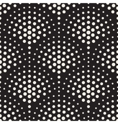 Seamless black and white circles mosaic vector