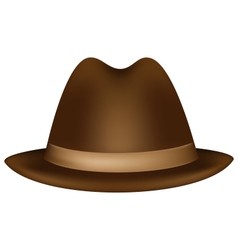 Headdress brown fedora vector