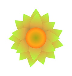 Abstract sunflower isolated on white background vector