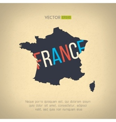 France map in vintage design french border vector